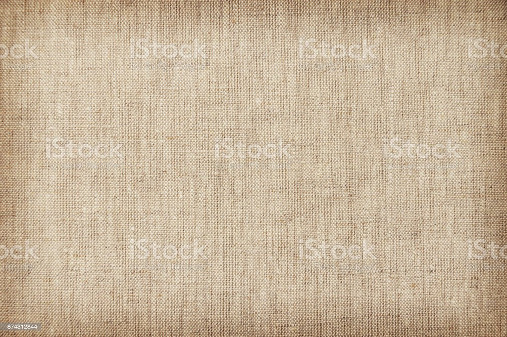 Brown light linen texture or background for your design stock photo