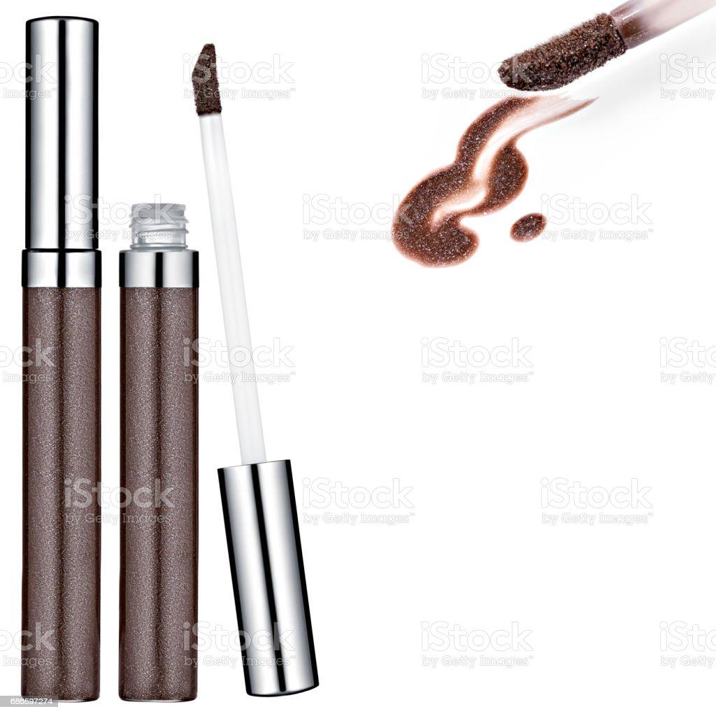 Brown Lip Gloss, sample royalty-free stock photo