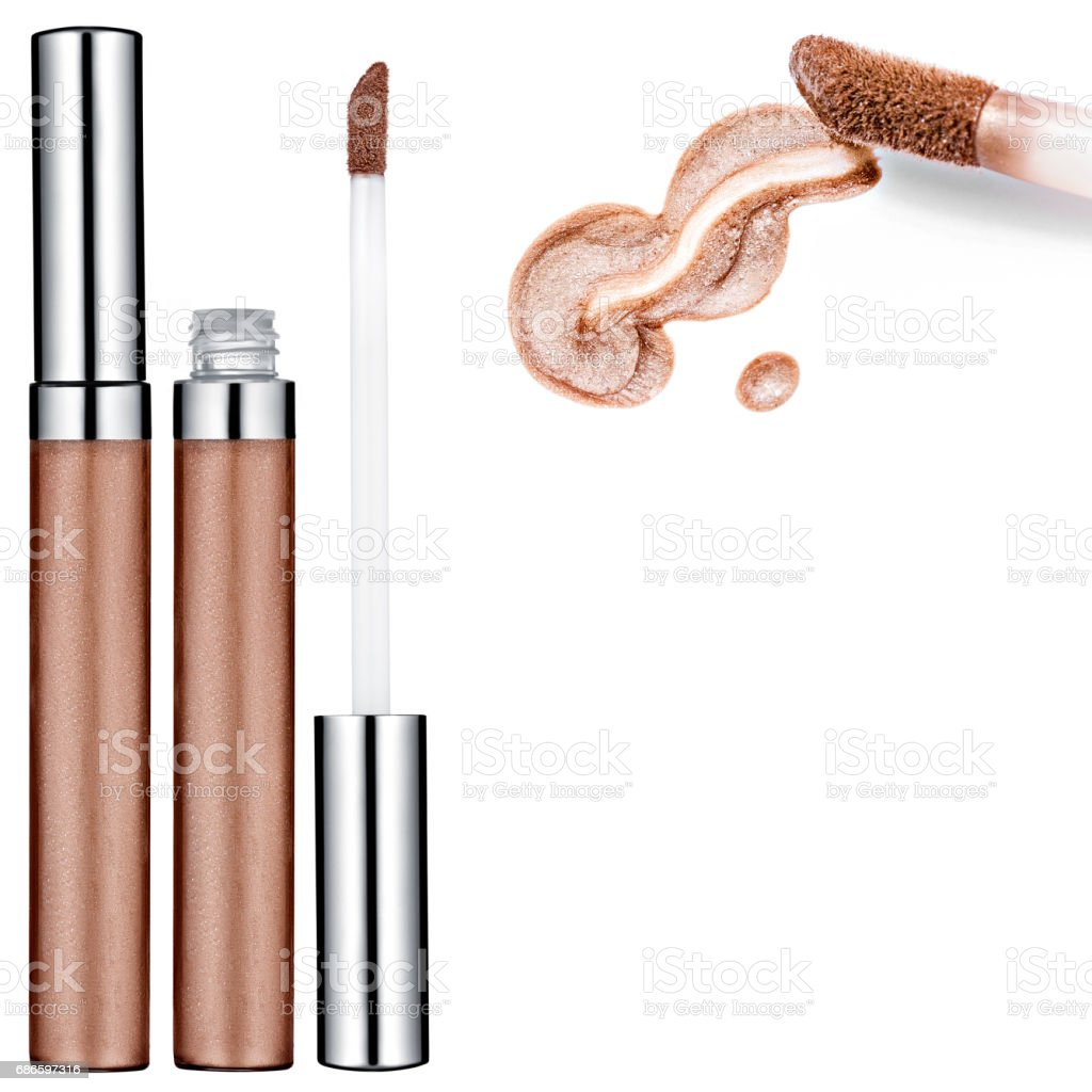 Brown Lip Gloss, sample royalty-free stock photo