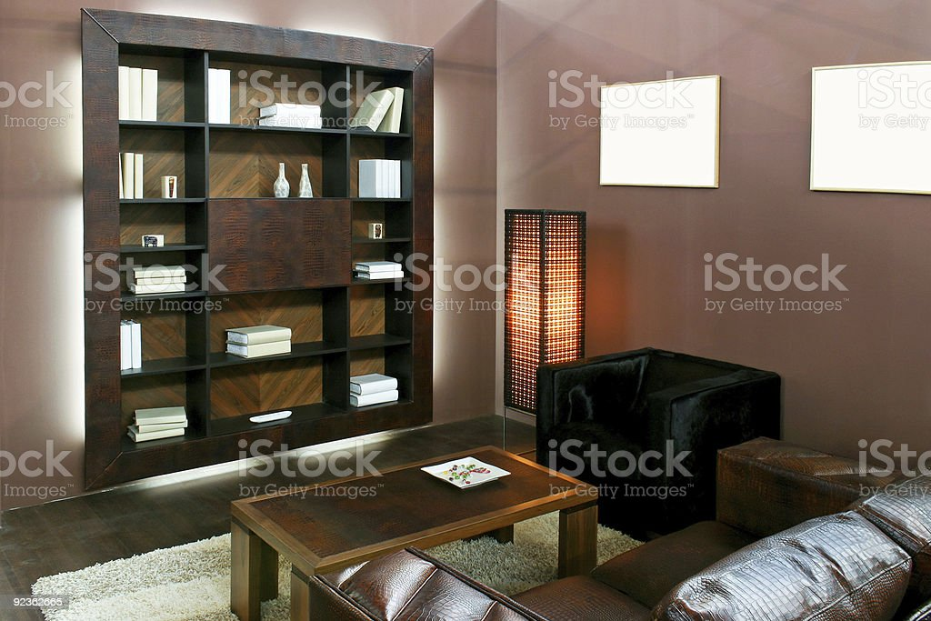 Brown living area royalty-free stock photo