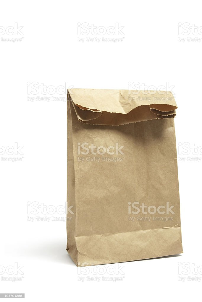Brown Lunch Bag royalty-free stock photo