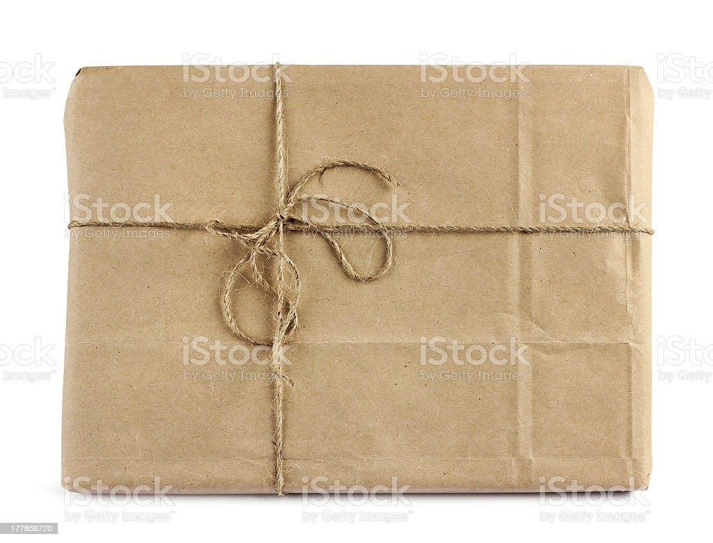 Brown mail delivery package royalty-free stock photo
