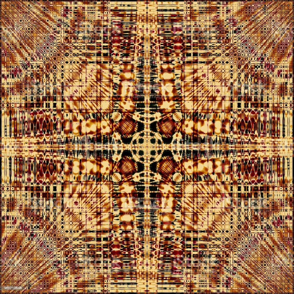 Brown mandala illustration unusual backdrop wallpaper - Royalty-free Abstract Stock Photo