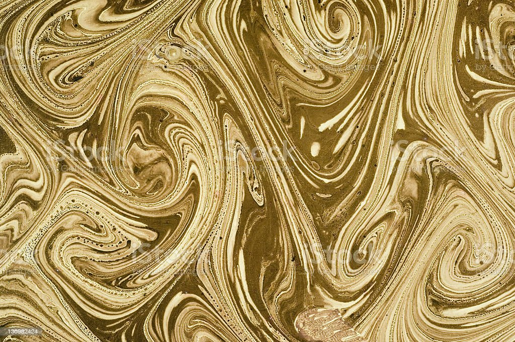 Brown marbled paper royalty-free stock photo