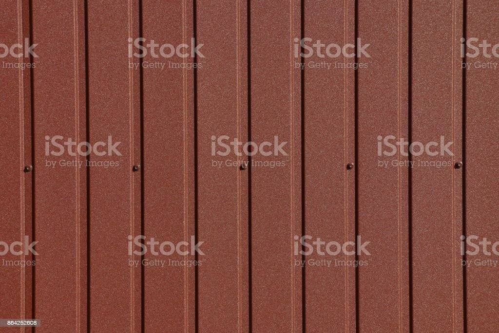 brown metal texture of a part of the wall royalty-free stock photo