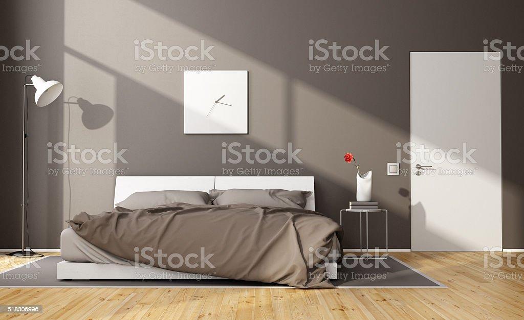 Camera Da Letto Moderna Marrone : Camera da letto moderna marrone fotografie stock e altre immagini