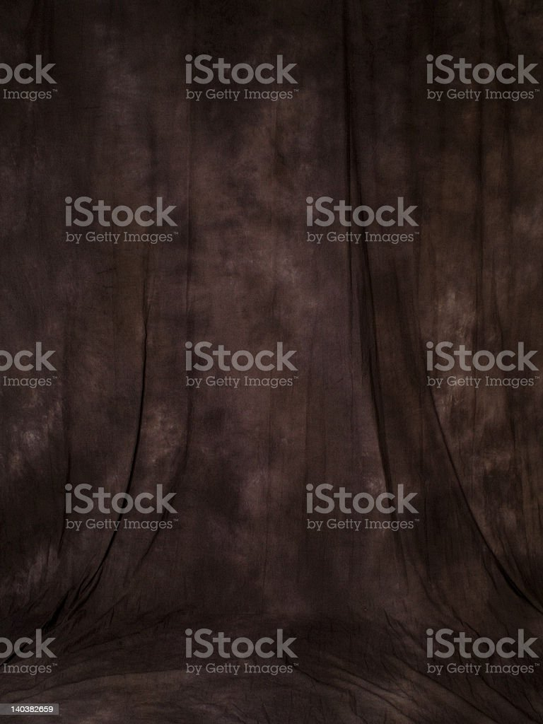 Brown muslin backdrop stock photo