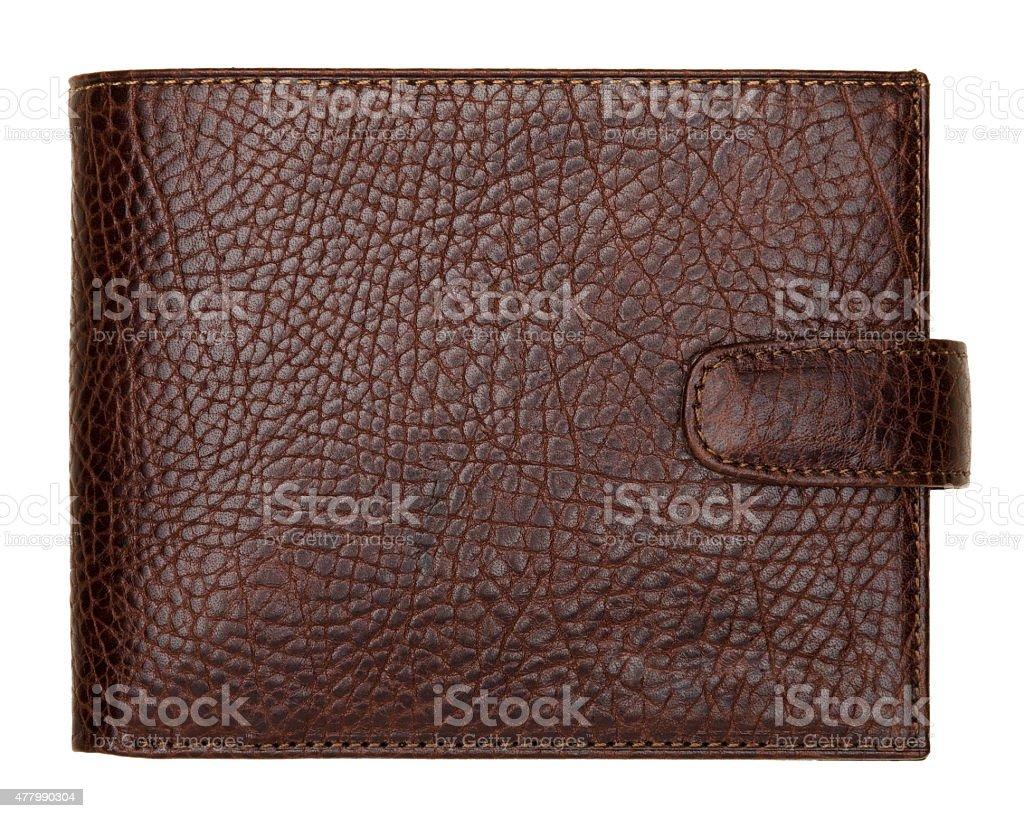 De couro marrom natural bolso isolado no fundo branco - foto de acervo