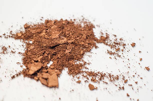 Brown neutral copper makeup powder eyeshadow stock photo