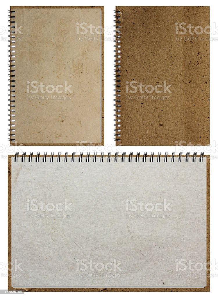 Brown Notebook paper stock photo