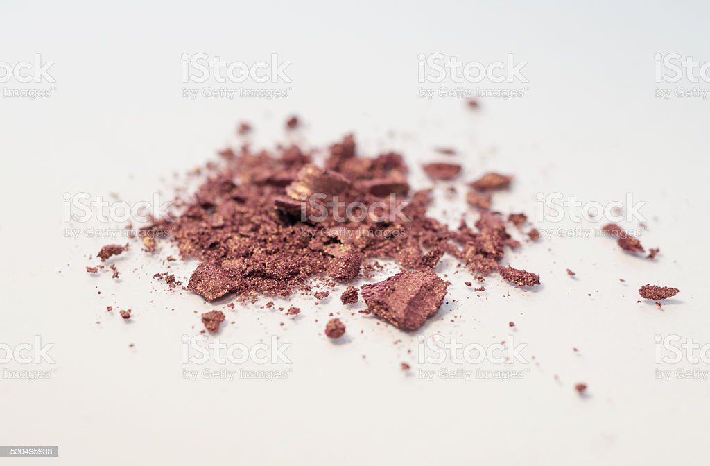 brown, nudes, neutral shadow makeup powder magnified royalty-free stock photo