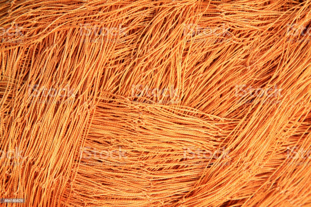 Brown nylon fishing nets, closeup of photo royalty-free stock photo
