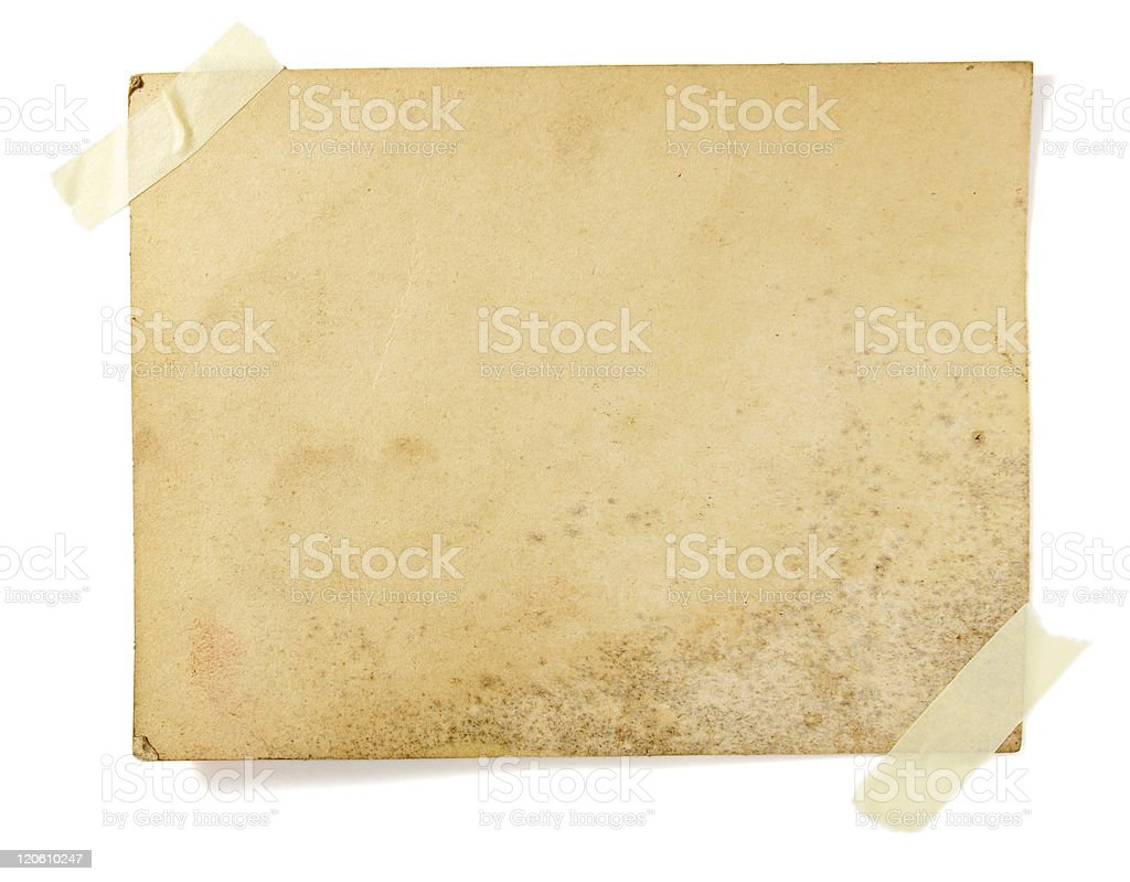 brown old note paper royalty-free stock photo