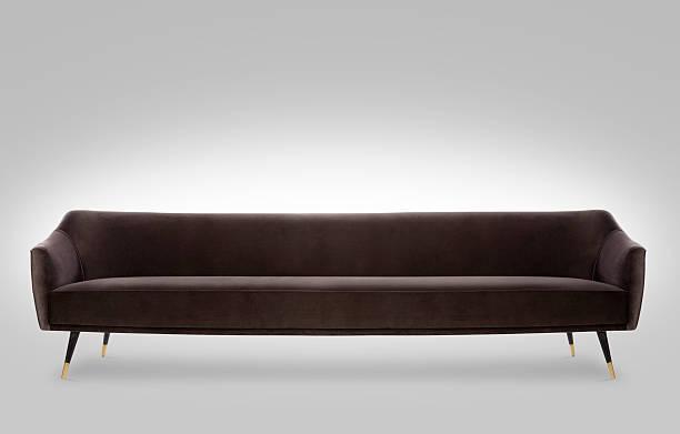 brown old school sofa stock photo