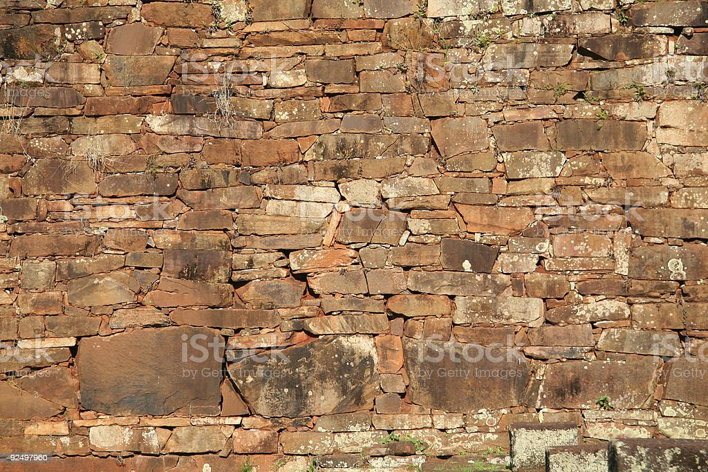Brown old stone wall royalty-free stock photo