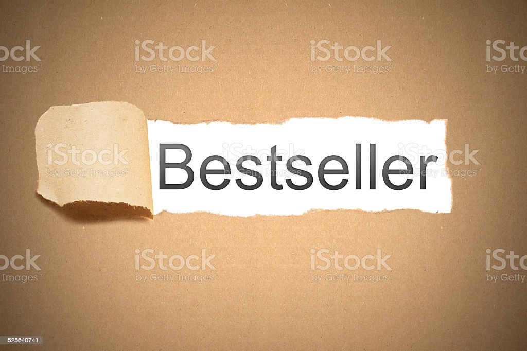 brown package paper carton torn to reveal white space bestseller stock photo