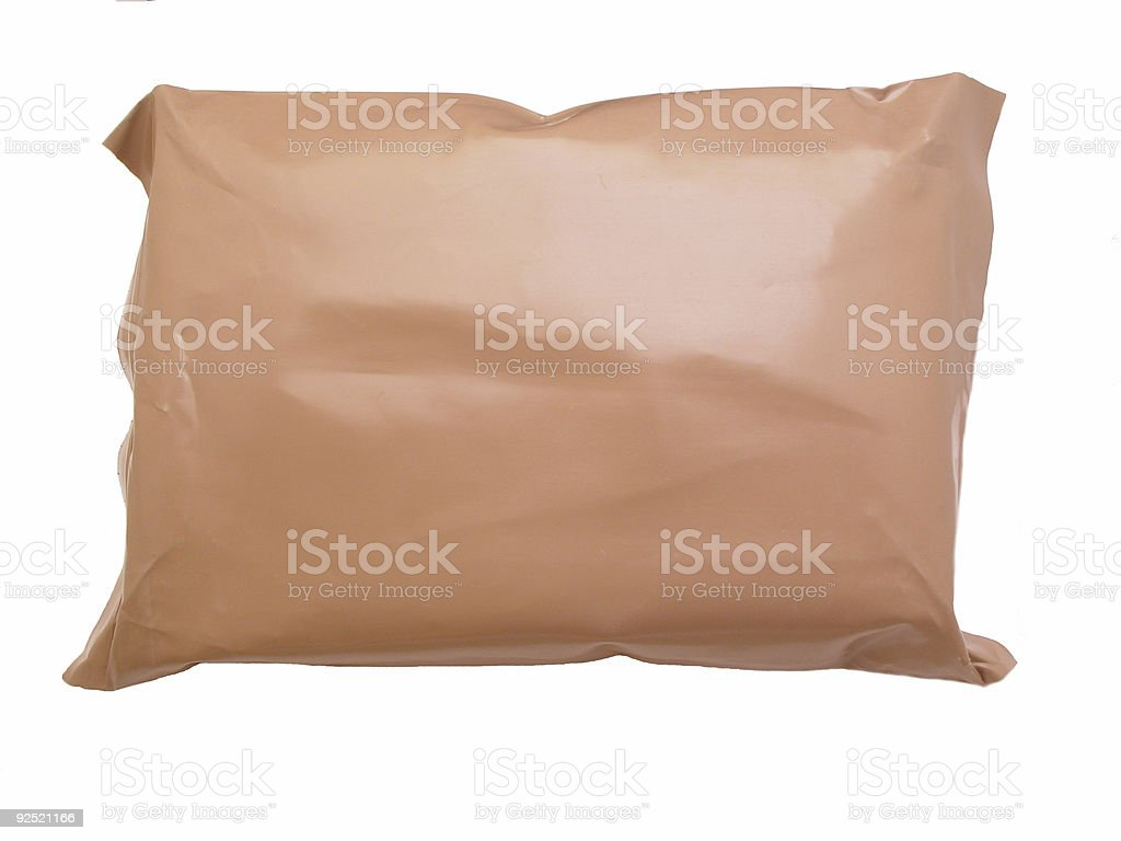 Brown Package royalty-free stock photo