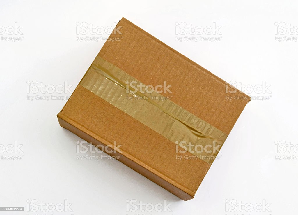brown package with tape stock photo