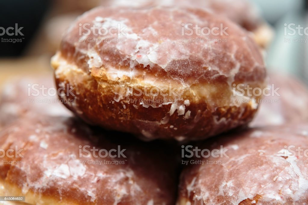 Brown 'Paczki' Donuts.