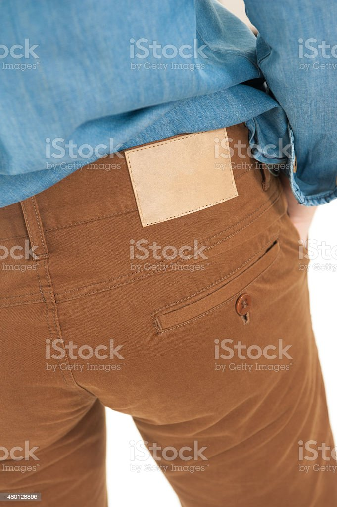 Brown pants stock photo
