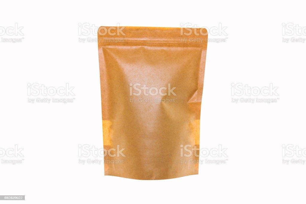 Braune Papiertüte isoliert auf weiss Lizenzfreies stock-foto