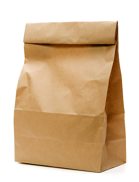 brown paper bag - brown stock pictures, royalty-free photos & images