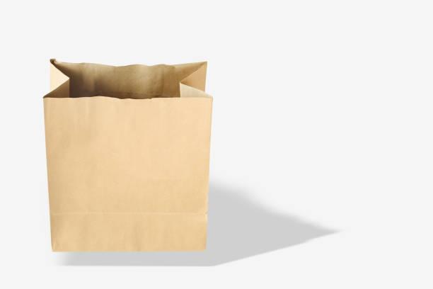 茶色の紙製バッグ ストックフォト