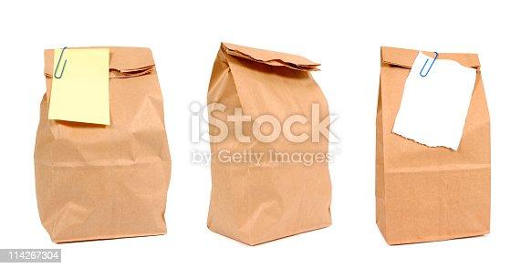 istock Brown paper bags 114267304