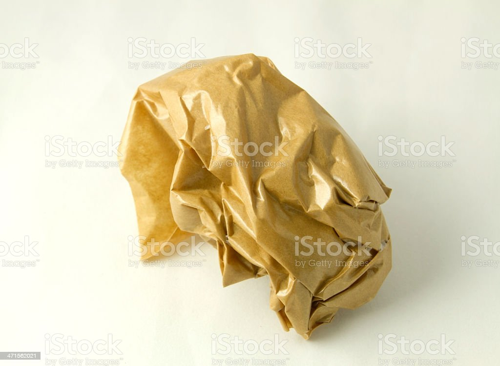 Brown paper ball royalty-free stock photo