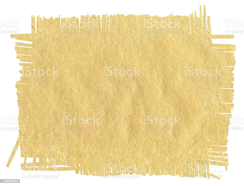 Brown paper grunge frame background textured isolated royalty-free stock photo