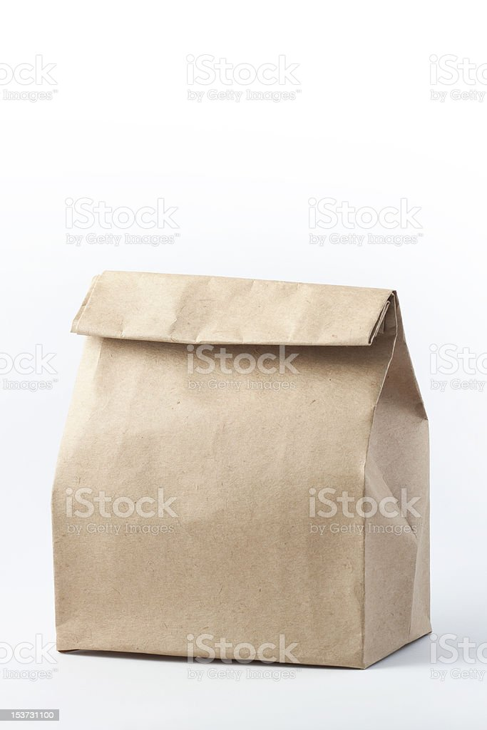 Brown Paper Lunch Bag royalty-free stock photo