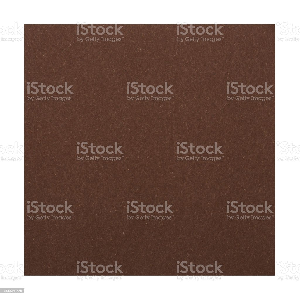 Brown paper on white background stock photo