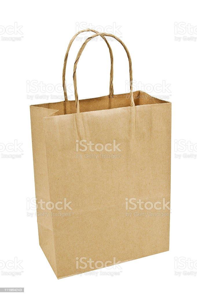 Brown Paper Shopping Bag royalty-free stock photo