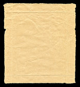 istock Brown Paper textured isolated on black background 184841215