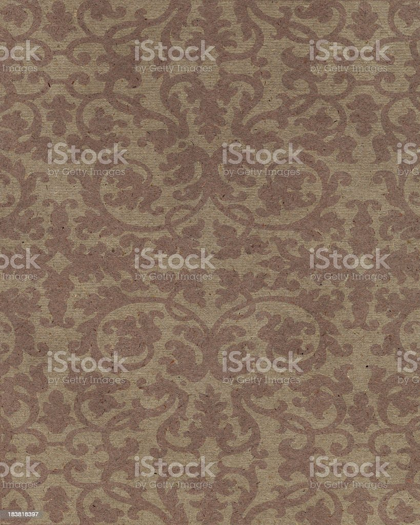 brown paper with floral pattern royalty-free stock photo