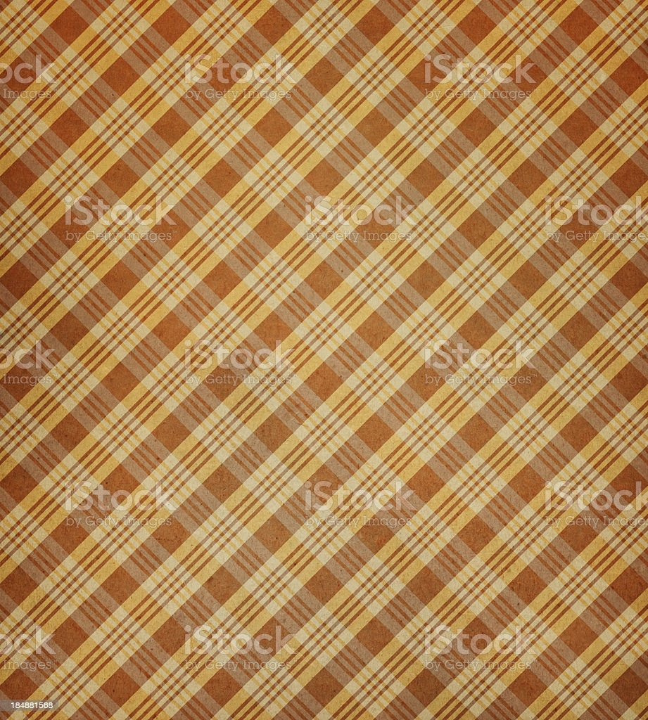 brown paper with plaid pattern royalty-free stock photo
