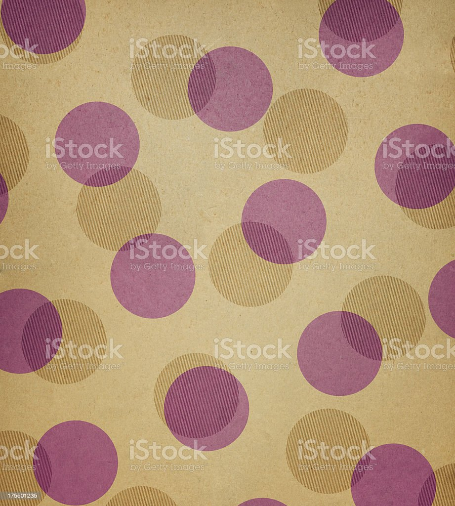 brown paper with random large dots royalty-free stock photo