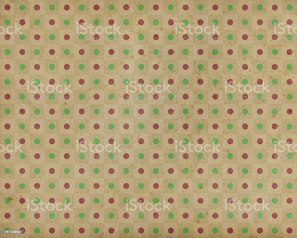 brown paper with red and green dots royalty-free stock photo