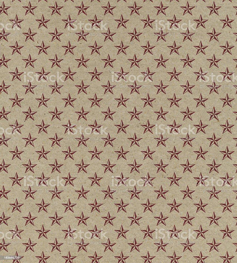 brown paper with star pattern stock photo