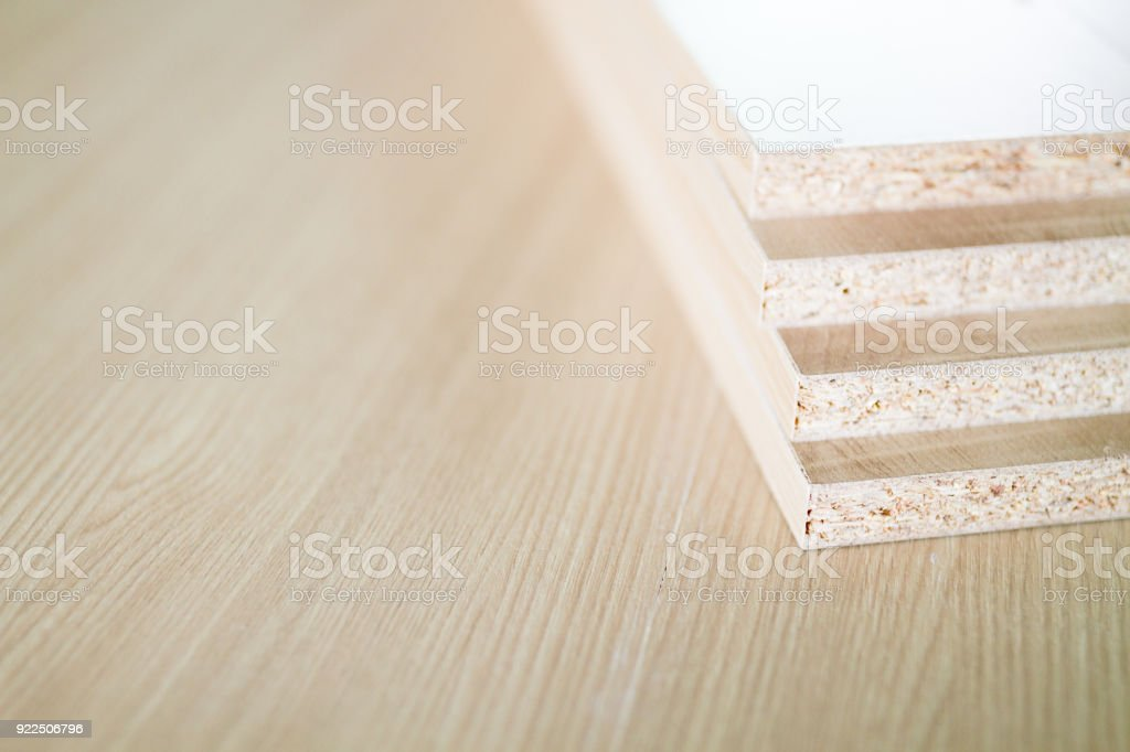 Brown Particle Board. Royalty Free Stock Photo
