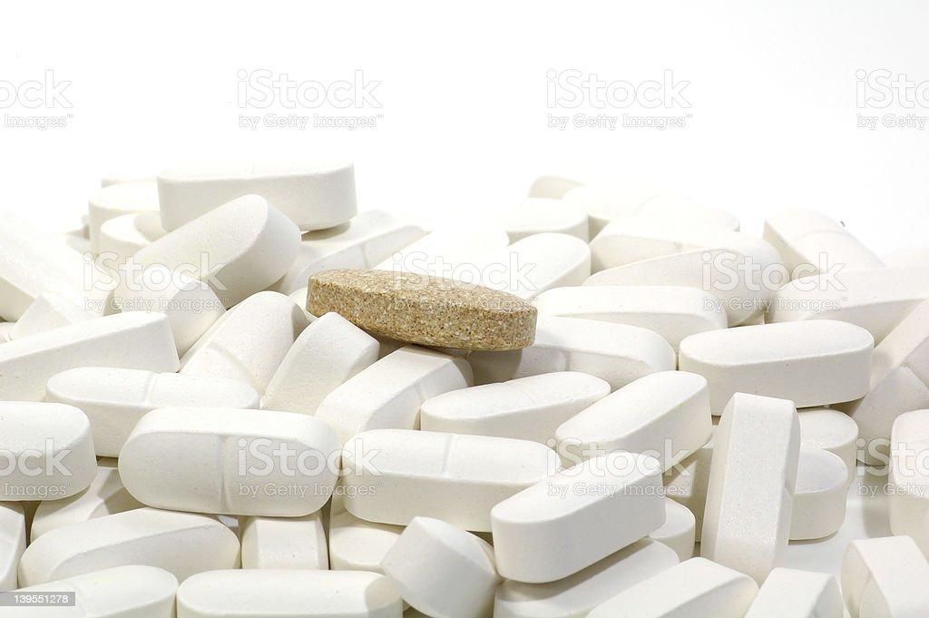 Brown Pill stock photo