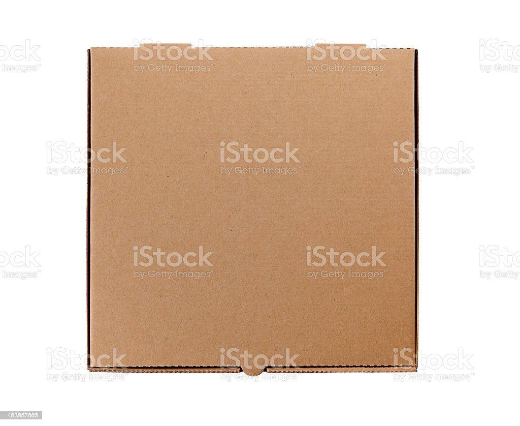 Brown Pizza Box stock photo