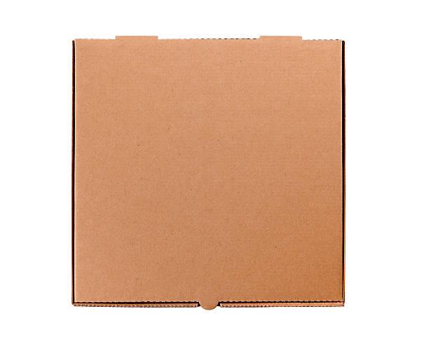 brązowe pudełko na pizzę - karton zbiornik zdjęcia i obrazy z banku zdjęć