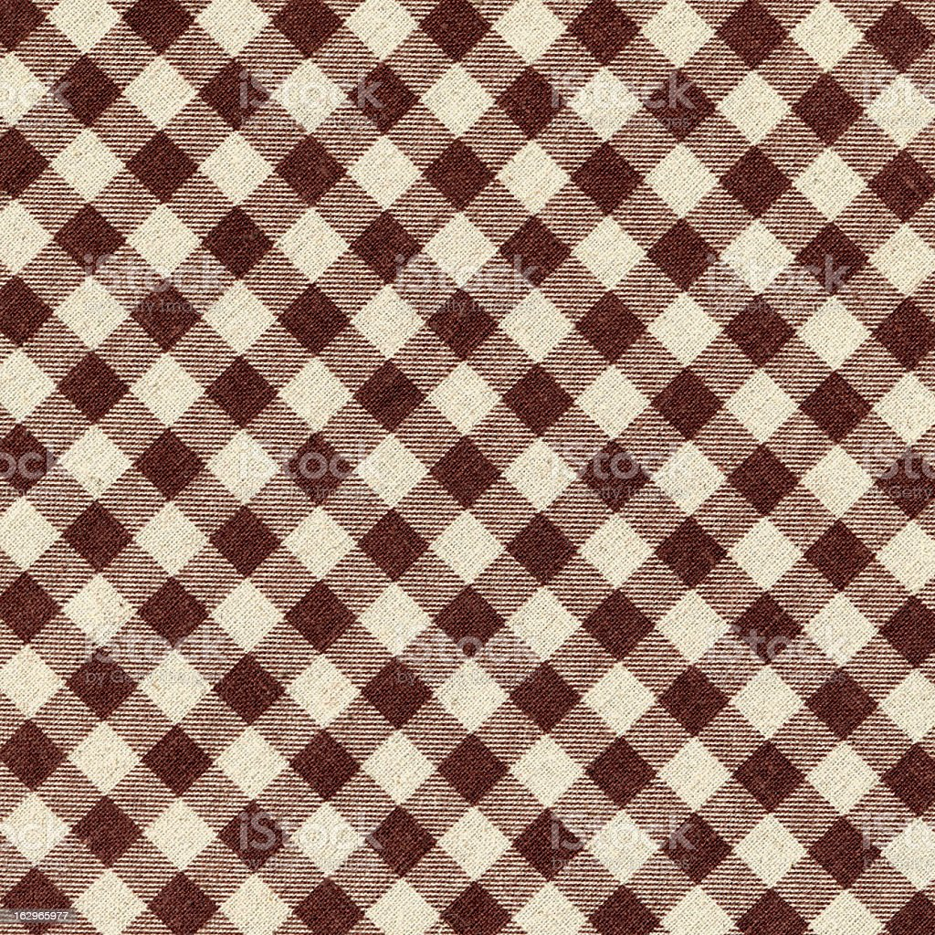 Brown Plaid Fabric background textured stock photo