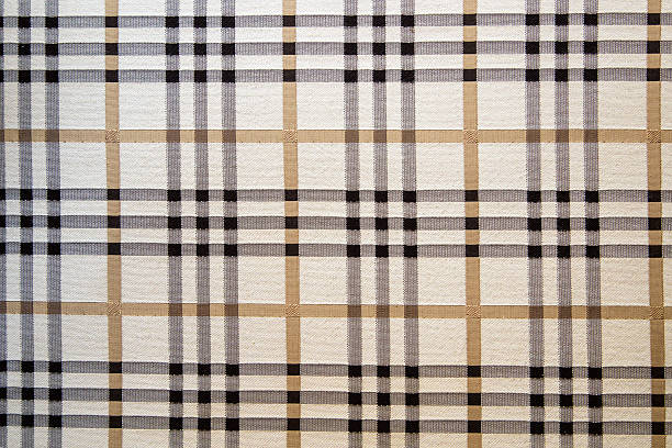 Brown Plaid Textile Texture stock photo