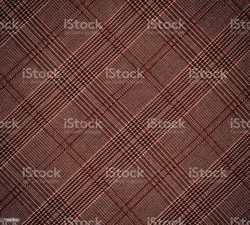 brown plaid wool fabric royalty-free stock photo