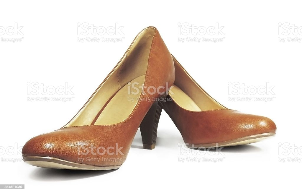 brown pump shoes royalty-free stock photo