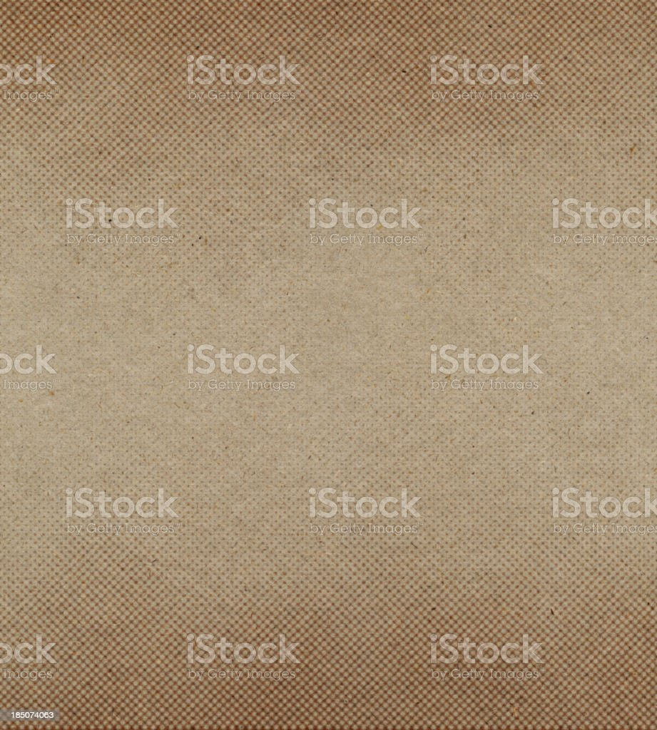 brown recycled paper with halftone stock photo