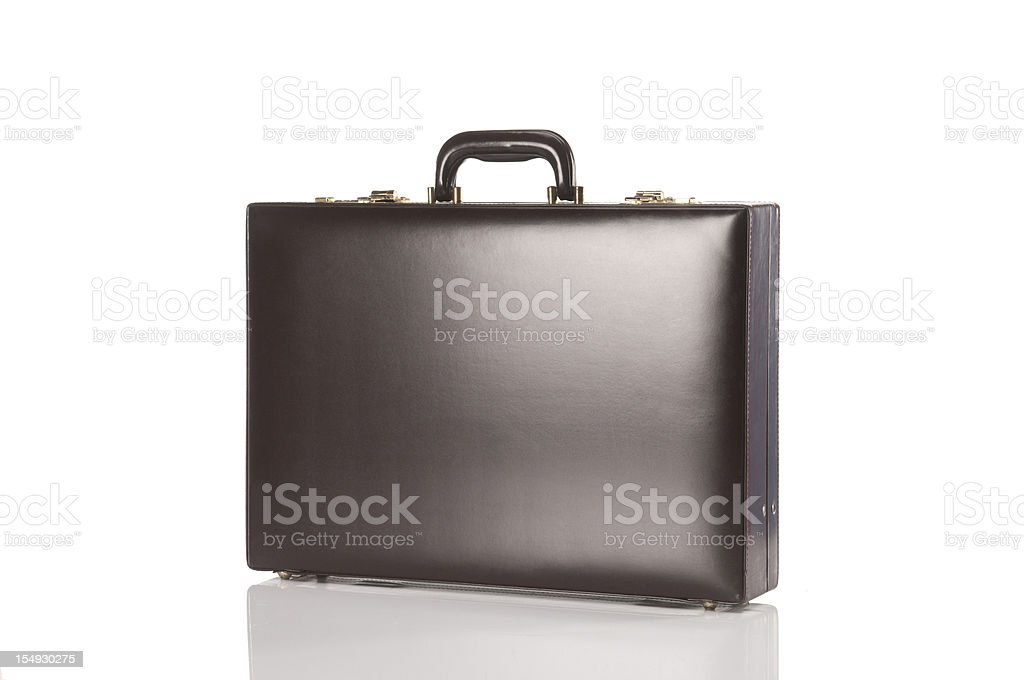 Brown Retro Briefcase stock photo