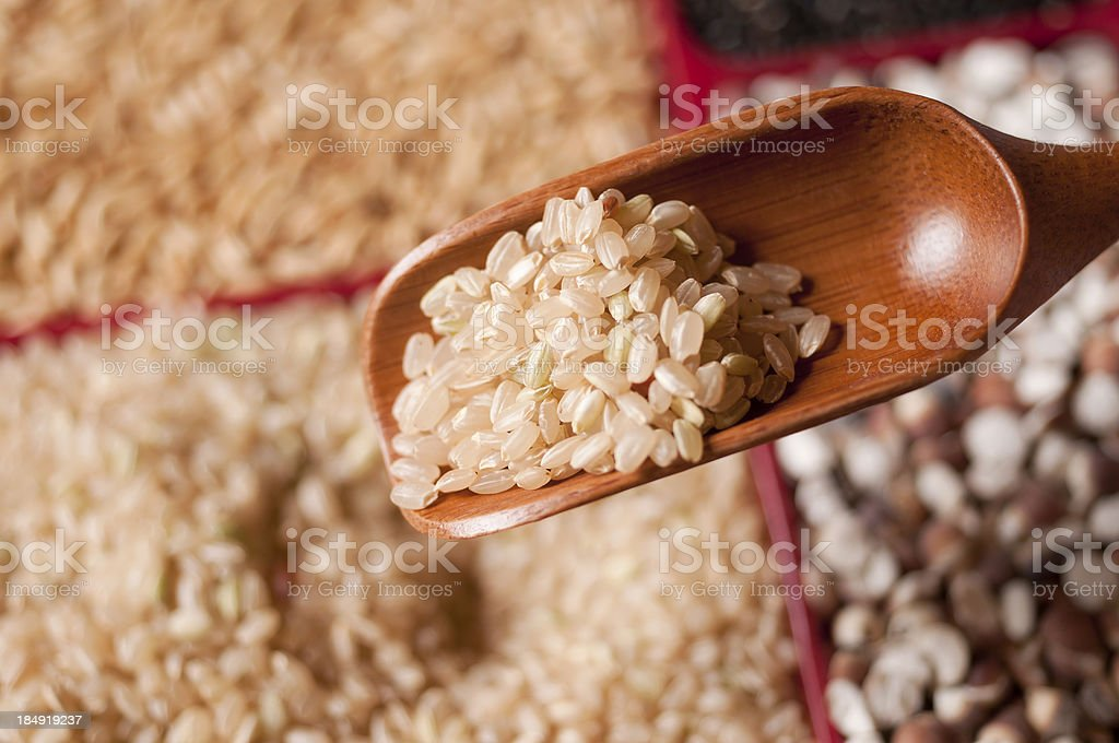 Brown Rice Close-up royalty-free stock photo